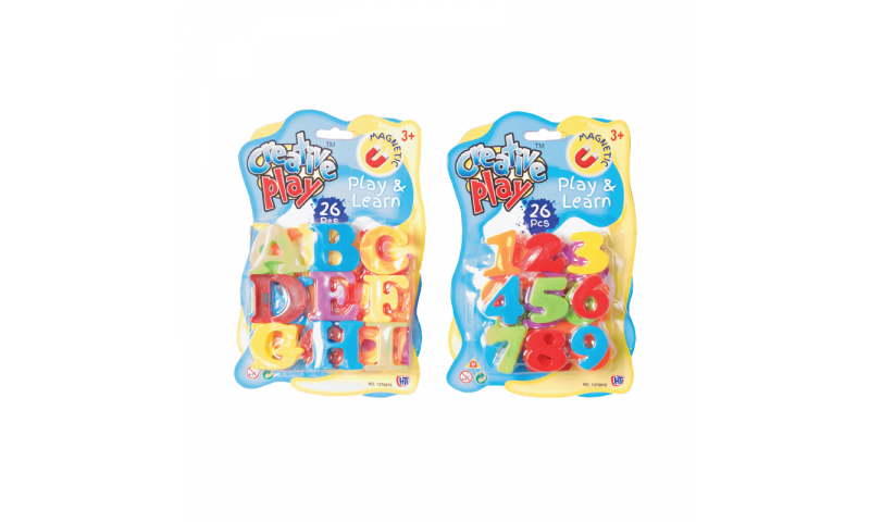 Novelty Magnetic Letters and Numbers Set Asstd (New Lower price for 2021)