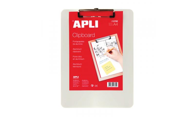 Apli Aluminium A4 Clipboard