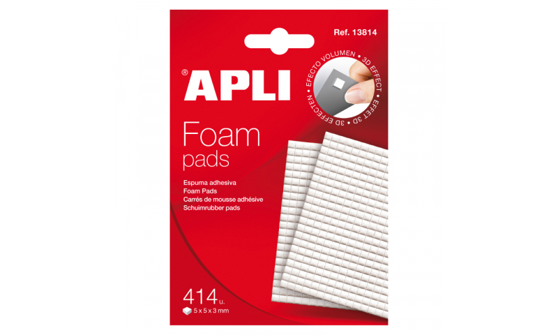 Apli Mini Foam Pad, 5x5mm, 414 Pads
