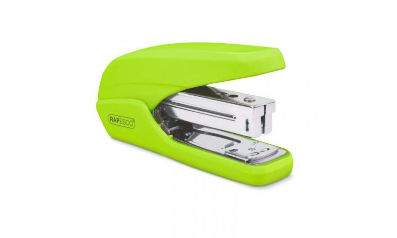 Rapesco X5 25 Less Effort Desk Stapler, 25 sheet, Green