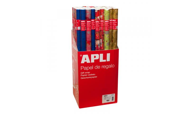 Apli Giftwrap Paper in Roll, 2mx70cm, Childrens Asstd Designs:  (New Lower Price for 2021)