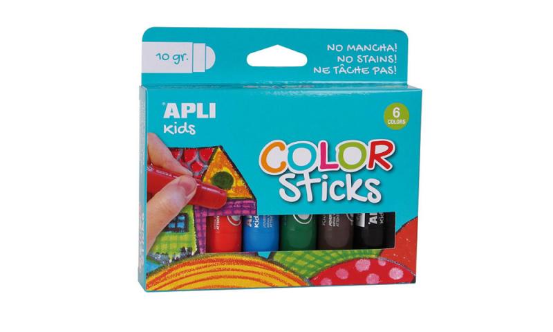 Apli Kids Twist Up Colour Sticks 6pk Hangcarded