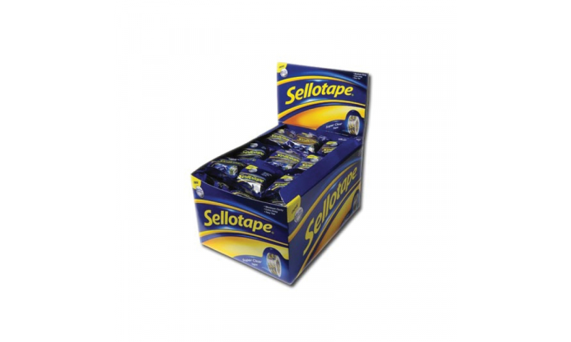 Sellotape Gold Original 15mm x 10M Flow Wrapped  (New Lower Price for 2021)