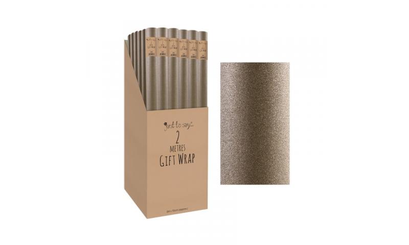 Gold Glitter Luxury Gift Wrap Rolls 2 Metre x 70cm