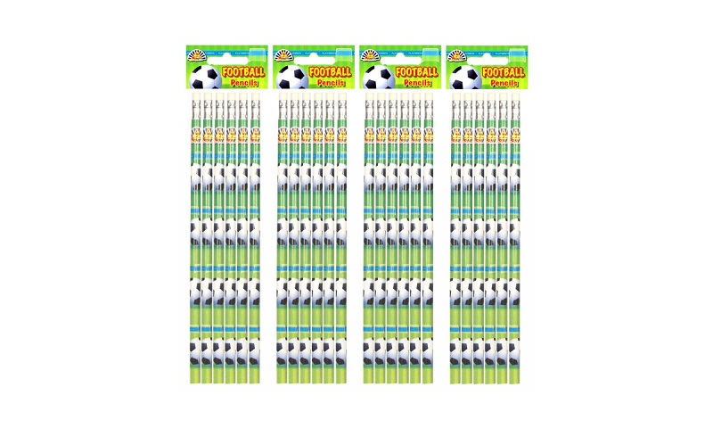 Soccer 6 Pack Full Length Pencils with Eraser, Hangpacked: On Special Offer