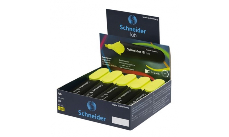 SCHNEIDER  Job Highlighters, Red Dot Awarded, Chisel Tip in 6 colour selection