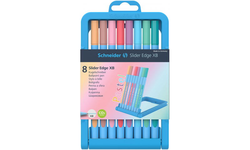 Schneider Slider Edge Pastel Pen XB, Case of 8 Asstd Colours