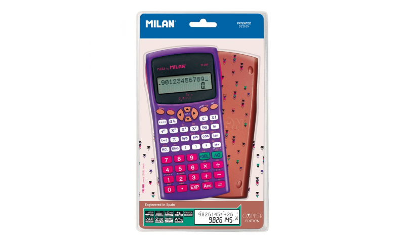 Milan Copper M240 Scientific Calculator 12+2 Digits Blister (New Lower Price for 2021)