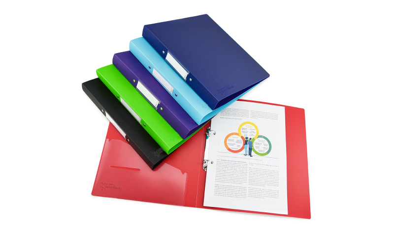 Rapesco 25mm PP 2 Ring Binder with GERM SAVVY protection - 6 colours available