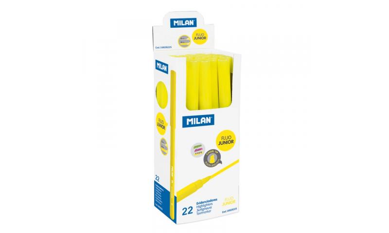 0.20Milan Flou Junior Slimline Highlighter, Chisel tip in CDU. (New Design)