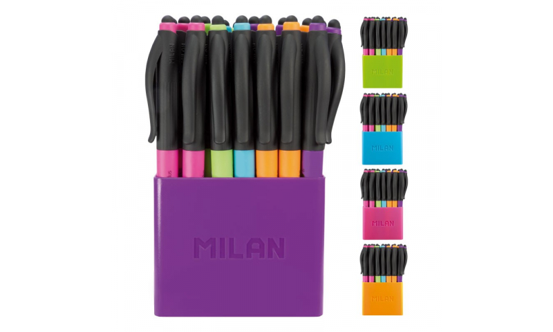 Milan P1 Touch Stylus & Ballpen 5 Asstd Colours in CDU Display (New Lower Price for 2021)