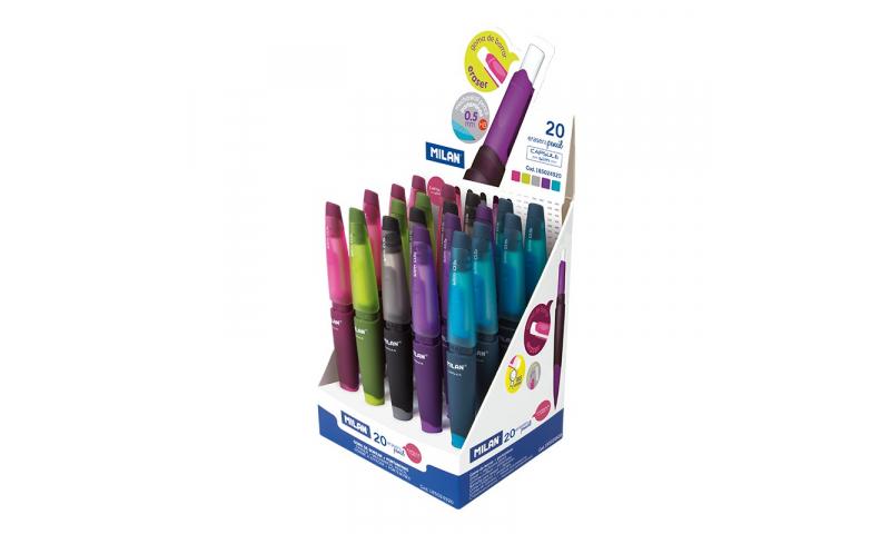 Milan Capsule Slim Mechanical Pencil & Eraser,  0.5mm HB. (New Lower Price for 2021)
