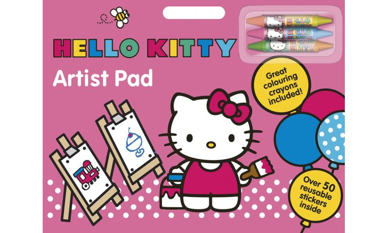 Hello Kitty Artists Pad & Crayons - Zero VAT