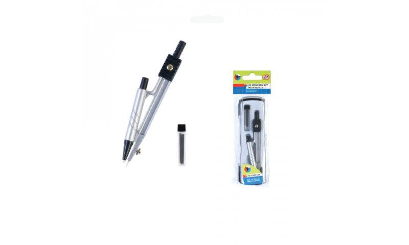 Starpak Boxed Compass Set With Pencil Leads, Hangpack