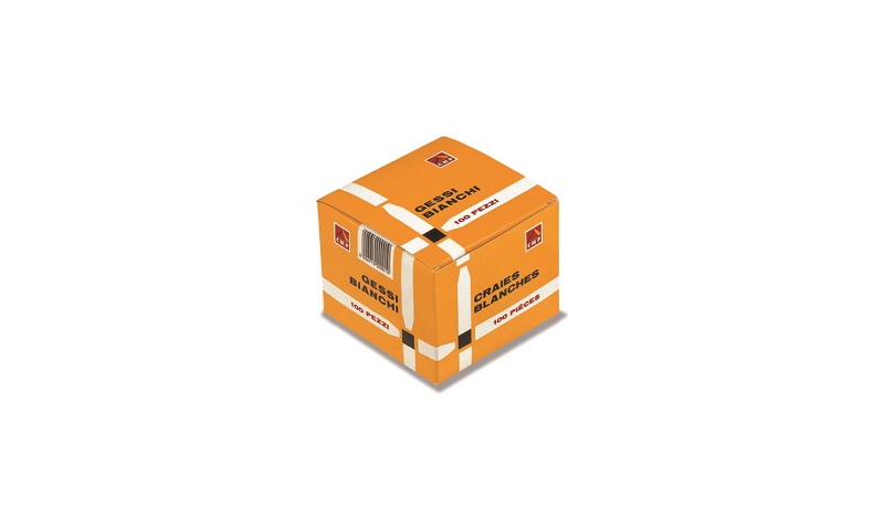 PRIMO White Square Chalk Sticks 100 box 11x11x90mm with bevelled point: On Special Offer