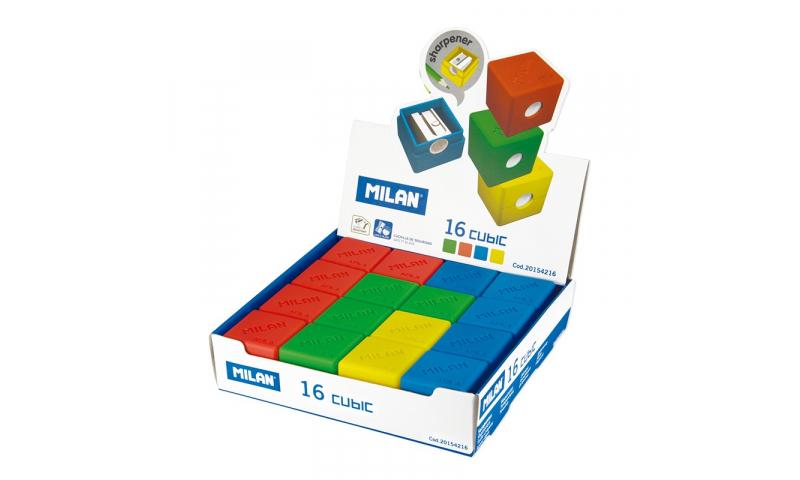 Milan Cubic Iconic shape Sharpeners, 3 Asstd