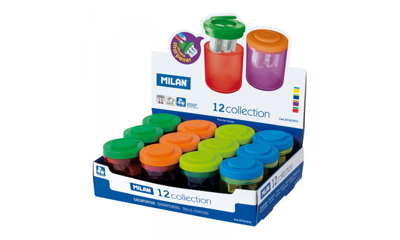 Milan Collection Canister Sharpeners, 3 Asstd colours (New Lower Price for 2021)