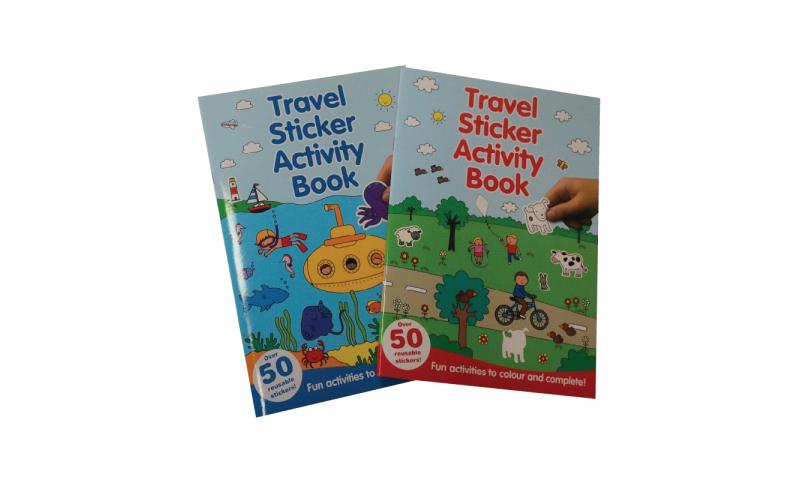 Childrens Books Travel Sticker & Activity Book, 2 Asstd A4