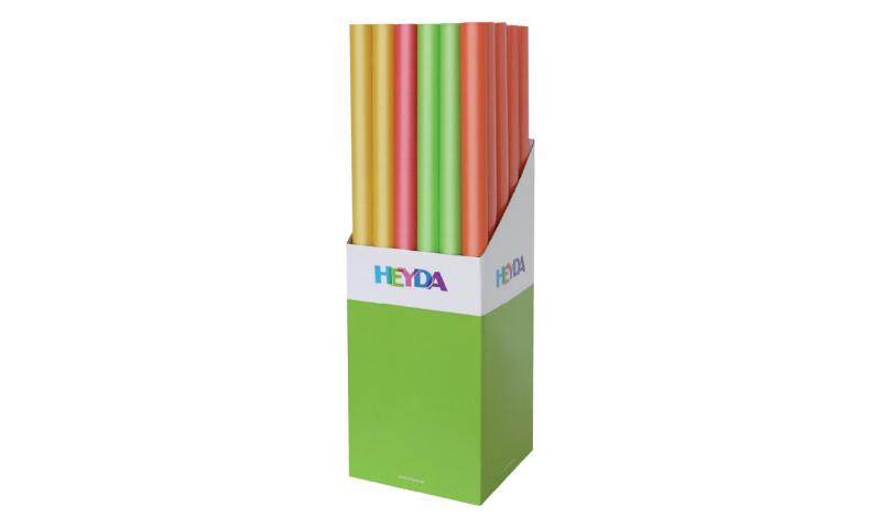 Heyda Kraft Paper 70x200cm Rolls, 70gsm Display 30 - Light Colours Asstd