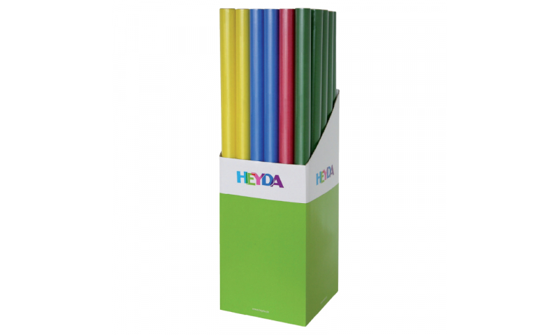 Heyda Kraft Paper 70x200cm Rolls, 70gsm Display 30 - Dark Colours Asstd