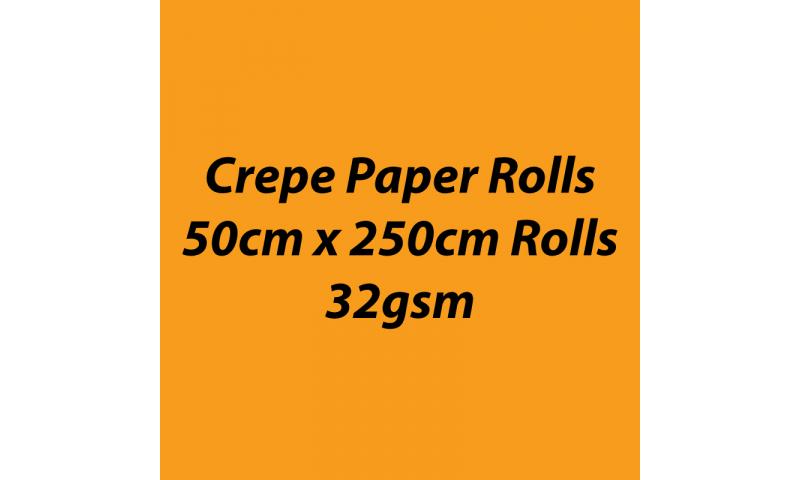 Heyda  Crepe Paper Rolls 50cmx250cm Roll, 32gsm Pack 10 - Mango