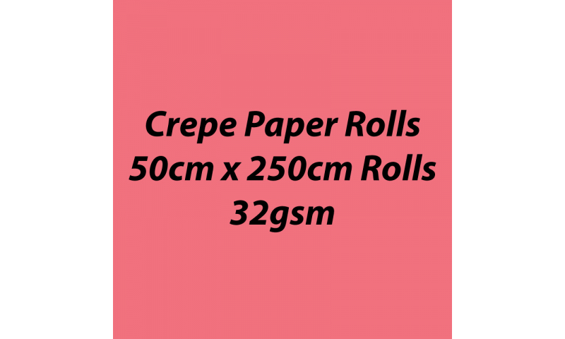 Heyda  Crepe Paper Rolls 50cmx250cm Roll, 32gsm Pack 10 - Rose