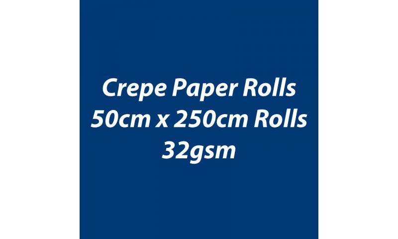 Heyda  Crepe Paper Rolls 50cmx250cm Roll, 32gsm Pack 10 - Dark Blue
