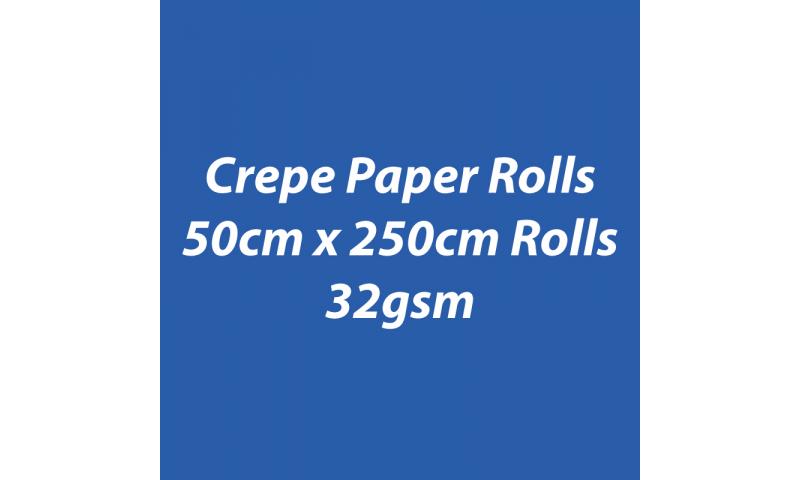 Heyda  Crepe Paper Rolls 50cmx250cm Roll, 32gsm Pack 10 - Royal Blue