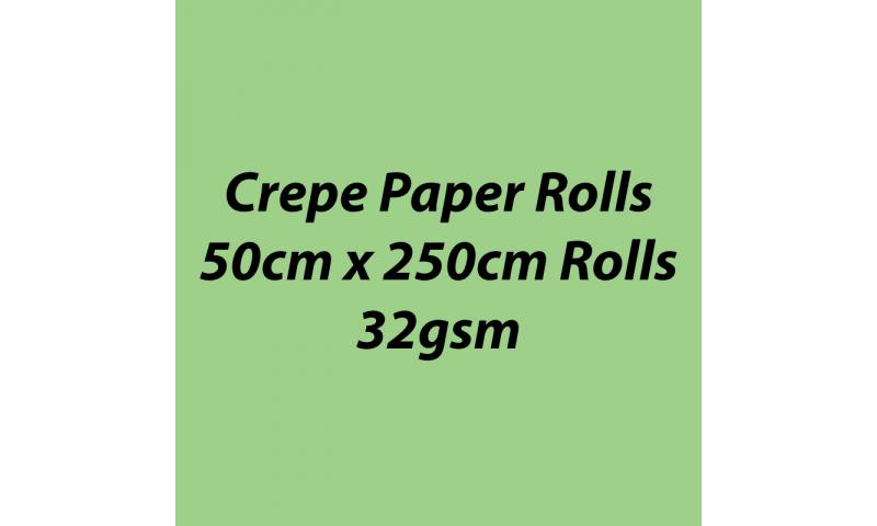 Heyda  Crepe Paper Rolls 50cmx250cm Roll, 32gsm Pack 10 - Lime