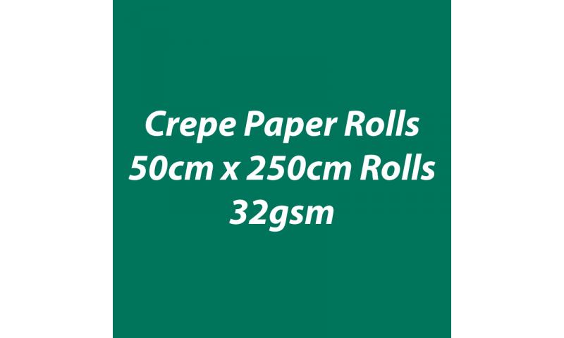 Heyda  Crepe Paper Rolls 50cmx250cm Roll, 32gsm Pack 10 - Grass Green