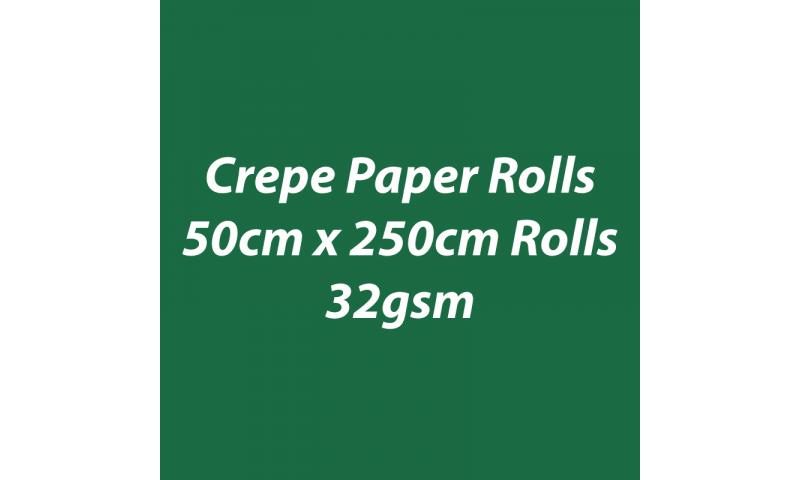 Heyda  Crepe Paper Rolls 50cmx250cm Roll, 32gsm Pack 10 - Dark Green