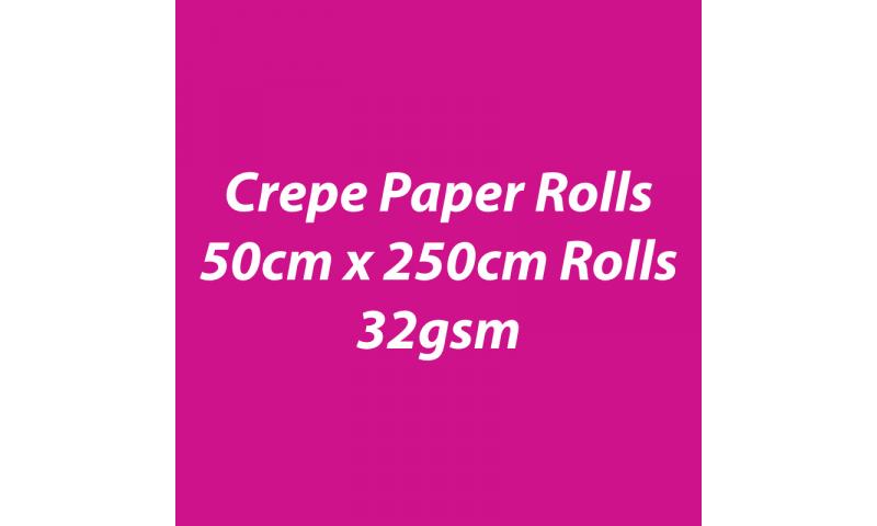 Heyda  Crepe Paper Rolls 50cmx250cm Roll, 32gsm Pack 10 - Pink