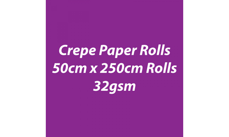 Heyda  Crepe Paper Rolls 50cmx250cm Roll, 32gsm Pack 10 - Lilac