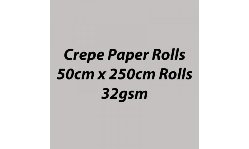 Heyda  Crepe Paper Rolls 50cmx250cm Roll, 32gsm Pack 10 - Grey