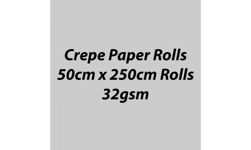 Heyda  Crepe Paper Rolls 50cmx250cm Roll, 60gsm Pack 10 - Silver