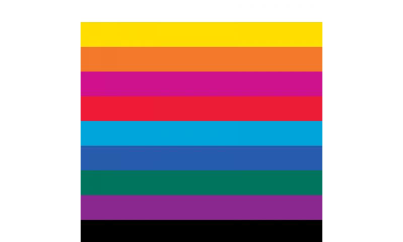 Heyda Display Crepe Paper XL, 50cm x 250cm, 32gsm, Pack = 100 Rolls 10 Colours Asstd