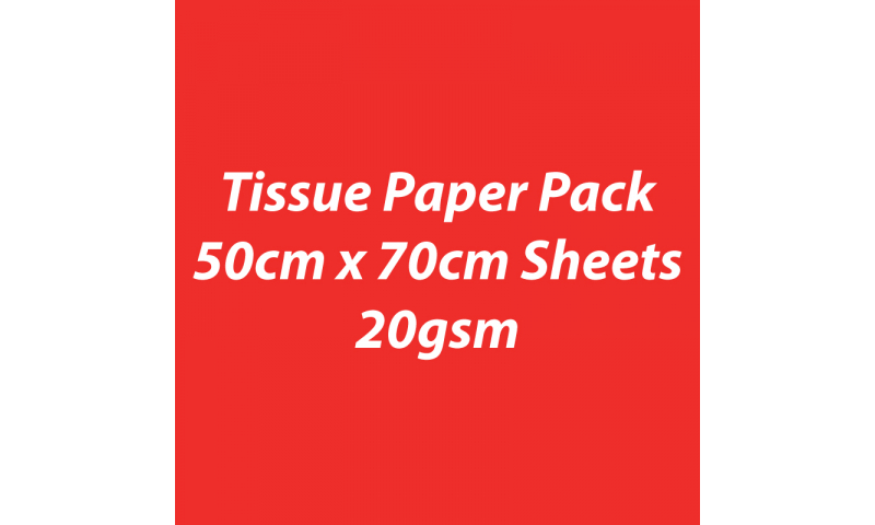 Heyda Tissue Paper Pack 50x70cm Sheets, 20 gsm, Pack 5 Sheets - Light Red
