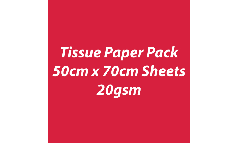 Heyda Tissue Paper Pack 50x70cm Sheets, 20 gsm, Pack 5 Sheets - Red