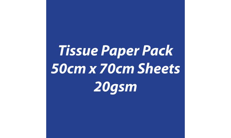 Heyda Tissue Paper Pack 50x70cm Sheets, 20 gsm, Pack 5 Sheets - Dark Blue