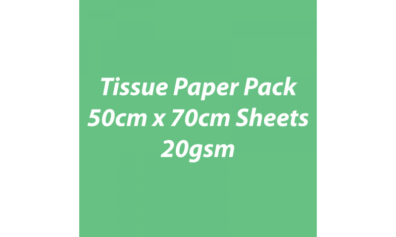 Heyda Tissue Paper Pack 50x70cm Sheets, 20 gsm, Pack 5 Sheets - Light Green