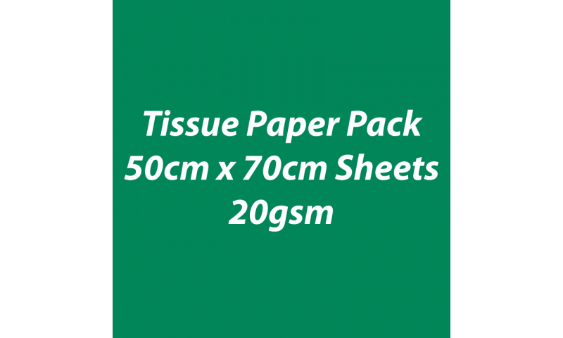 Heyda Tissue Paper Pack 50x70cm Sheets, 20 gsm, Pack 5 Sheets - Dark Green