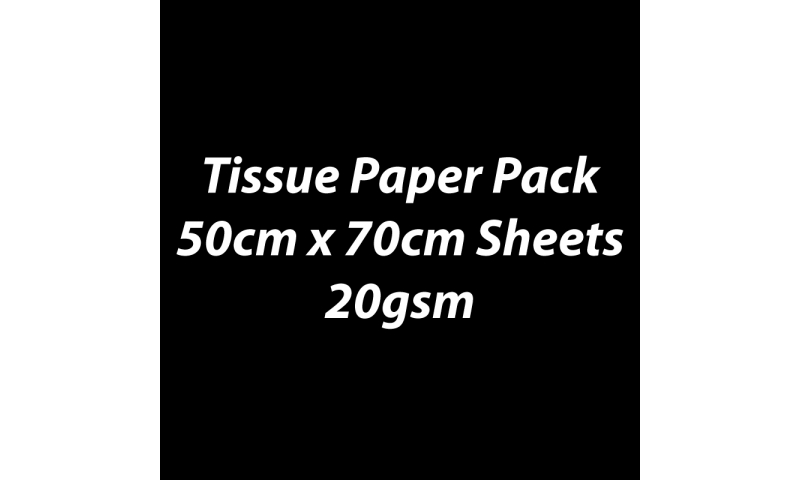 Heyda Tissue Paper Pack 50x70cm Sheets, 20 gsm, Pack 5 Sheets - Black