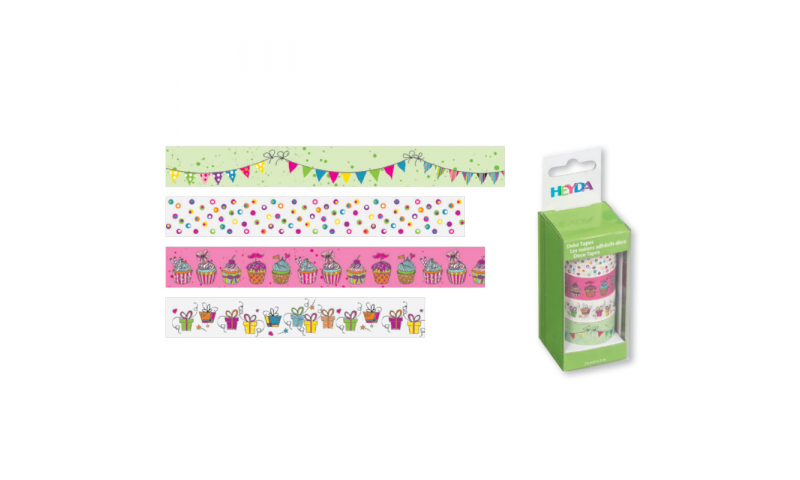Heyda Deco Tapes Box 5 Asstd Tapes - Garland Coloured