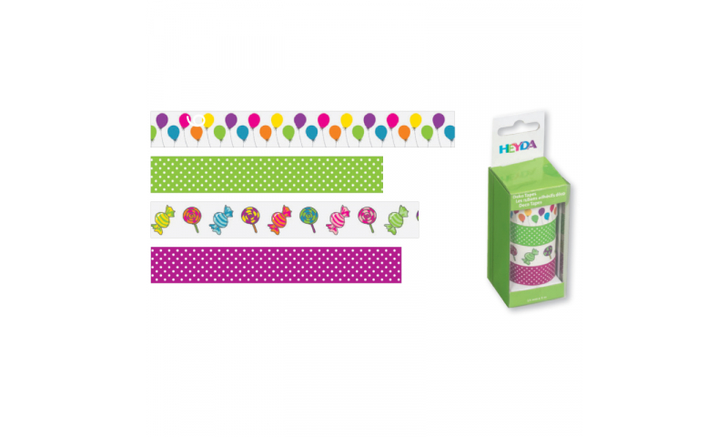 Heyda Deco Tapes Box 5 Asstd Tapes - Balloons Coloured