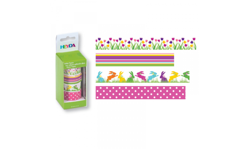 Heyda Deco Tapes Box 5 Asstd Tapes - Tulips