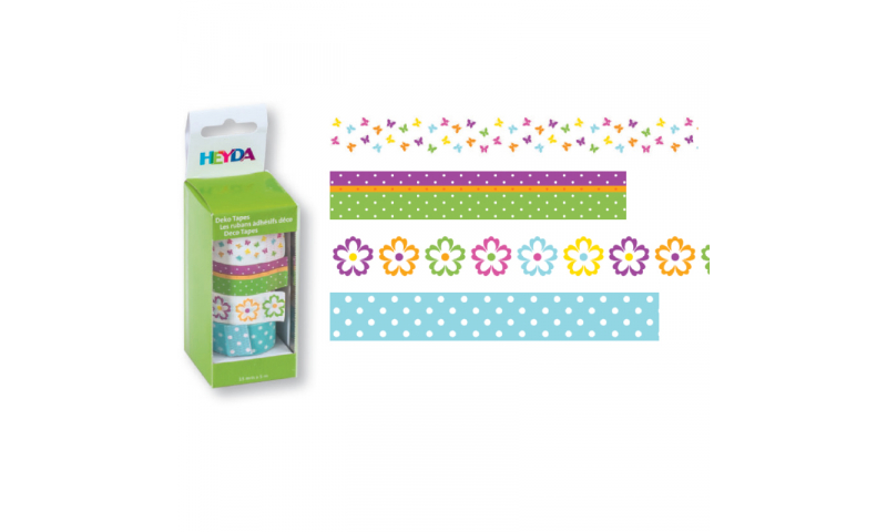 Heyda Deco Tapes Box 5 Asstd Tapes - Flowers