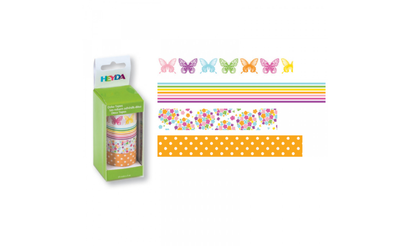 Heyda Deco Tapes Box 5 Asstd Tapes - Butterflies