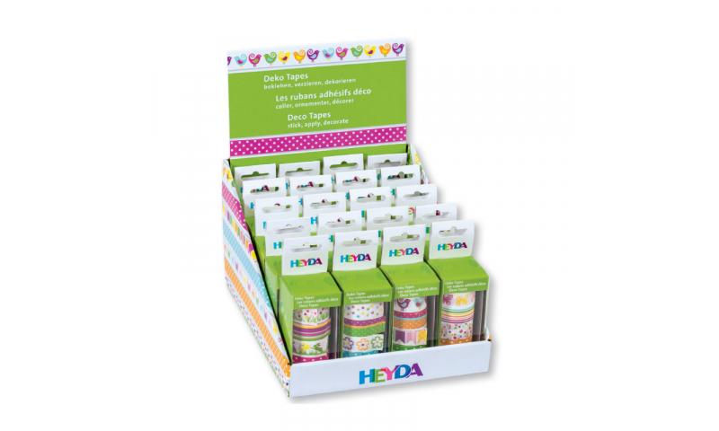 Heyda Deco Tapes Display of 20pcs Asstd Designs