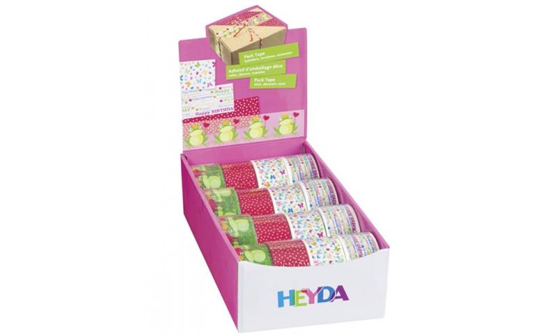 Heyda Display Tapes  48mm x 50m 4 Asstd, Counter Display