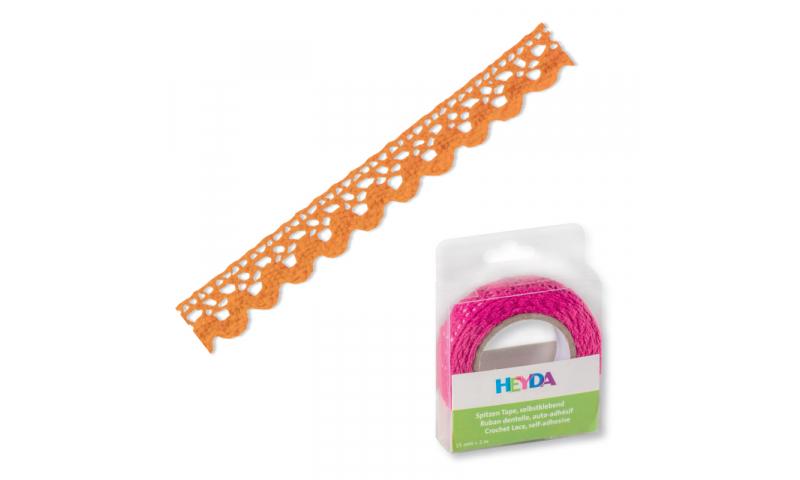 Heyda Lace Tape,  15mm x 2M in Dispenser - Mango